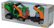 Трактор-погрузчик Wader (Полесье) ГрипТрак с полуприцепом для животных, 37398