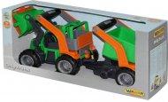 Трактор-погрузчик Wader (Полесье) ГрипТрак с полуприцепом, 37411