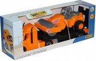 Автомобиль-трейлер Polesie «Майк» + дорожный каток, 55712