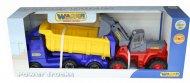 Автомобиль-самосвал Polesie «Volvo» с полуприцепом + трактор-погрузчик, 36872