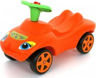 Каталка автомобиль Wader (Полесье) «Мой любимый автомобиль» оранжевая со звуковым сигналом, 44600