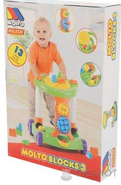 Каталка игровая Molto-Polesie с конструктором зеленая, 58133