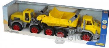 Игровой набор Wader (Полесье) КонсТрак трёхосный автомобиль-самосвал + КонсТрак трактор-погрузчик, 38159