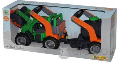Трактор-погрузчик Wader (Полесье) ГрипТрак с цистерной, 37404
