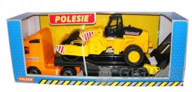 Автомобиль-трейлер Polesie «Volvo» + дорожный каток, 36902