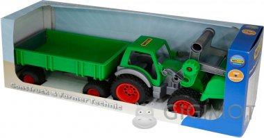 Трактор-погрузчик Wader (Полесье) «Фермер-техник» с прицепом, 37770