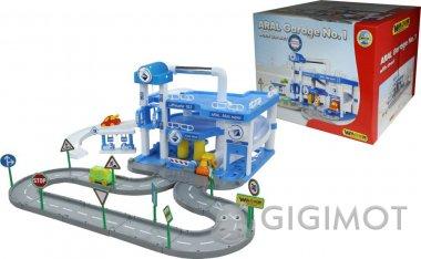 Игровой набор Wader (Полесье) Паркинг «ARAL» 3-уровневый с дорогой и подъёмником, 51530