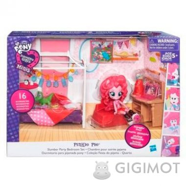 Игровой набор мини-кукол Equestria Girls My Little Pony «Пижамная вечеринка», B8824