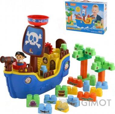 Набор Molto-Polesie «Пиратский корабль» + конструктор 30 элементов, 62246