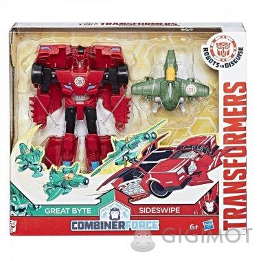 Трансформеры «Роботы под прикрытием: Гирхэд-Комбайнер Great Byte и Sideswipe», C0653/С0905