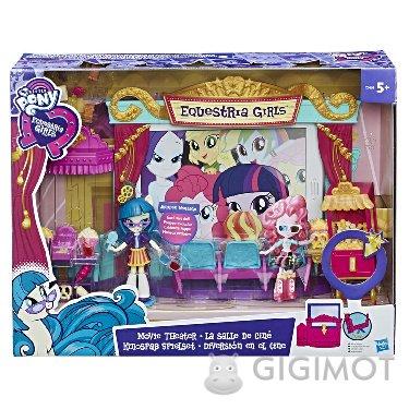 Игровой набор мини-кукол My Little Pony Equestria Girls «Кинотеатр», C0409