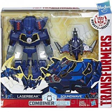 Трансформеры «Роботы под прикрытием: Гирхэд-Комбайнер Laserbeak и Sounwave», C0653/С2353