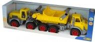 Ігровий набір Wader (Полісся) КонсТрак тривісний автомобіль-самоскид + КонсТрак трактор-навантажувач, 38159