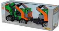 Трактор-навантажувач Wader (Полісся) ГріпТрак з напівпричепом для тварин, 37398