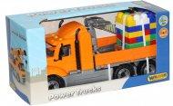 Автомобіль-кран Polesie «Майк» з маніпулятором + конструктор «Супер-Мікс», 55590