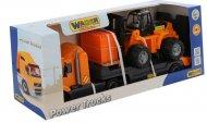 Автомобіль-трейлер Polesie «Майк» + автокар + конструктор «Супер-Мікс», 55699