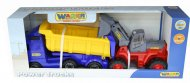 Автомобіль-самоскид Polesie «Volvo» з напівпричепом + трактор-навантажувач, 36872