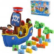 Набір Molto-Polesie «Піратський корабель» + конструктор 30 елементів, 62246