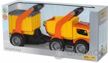 Автомобіль-самоскид Wader (Полісся) ГріпТрак з напівпричепом, 37466