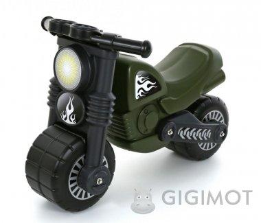 Каталка мотоцикл Polesie «Моторбайк» військовий, 49308