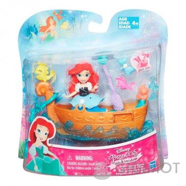 Набір для гри в воді Disney Princess «Маленька лялька Принцеса і човен» в асорт., B5338
