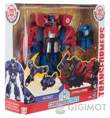 Трансформери «Роботи під прикриттям: Гірхед-Комбайнер Hi-Test і Optimus Prime», C0653/С2348