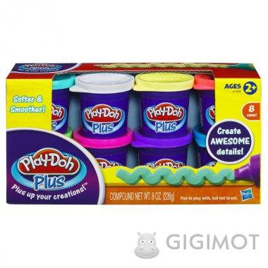 Набір пластиліну з 8-ми баночок Play-Doh «Плюс», A1206