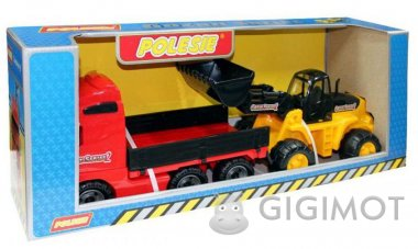 Автомобіль бортовий Polesie з трактором-навантажувачем, 36865